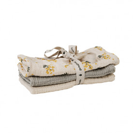 Set of 3 Muslin Cloth - Mimosa