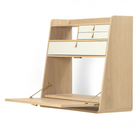 Gaston wall desk - 80 cm - Oak
