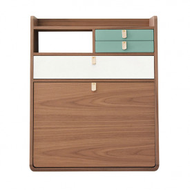 Gaston wall desk - 60 cm - Walnut
