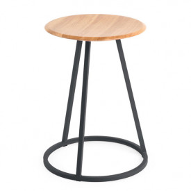 Gustave Stool - Oak & Anthracite