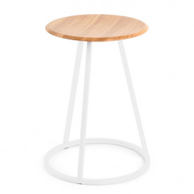 Gustave Stool - Oak & White