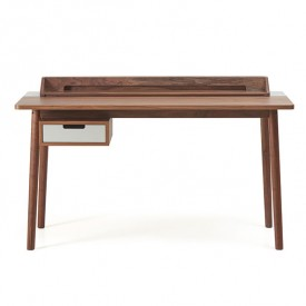Honoré Desk - Walnut & Light Grey