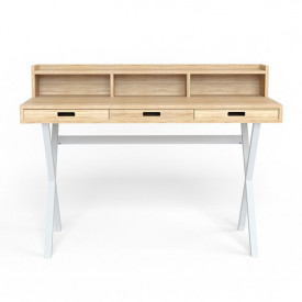 Hyppolite Desk - Oak & White