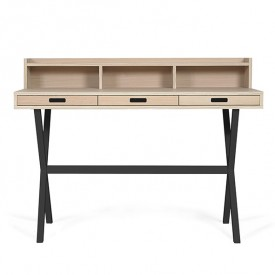 Hyppolite Desk - Oak & Anthracite