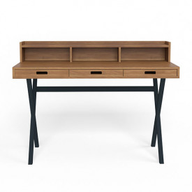 Hyppolite Desk - Walnut & Anthracite