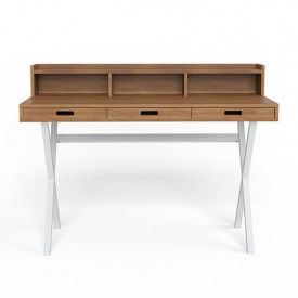 Hyppolite Desk - Walnut & White