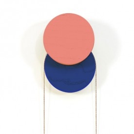 Lou Coat Hook - Coral & Dark Blue
