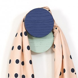 Lou Coat Hook - Dark Blue & Green