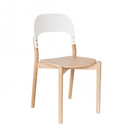 Chair Paula - Oak & White