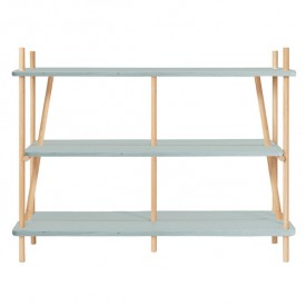 Bookcase Simone - Gradient Faded Blue