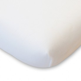 Organic Cotton Fitted Sheet - 90x200 - White