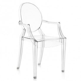 Louis Ghost Chair - Crystal
