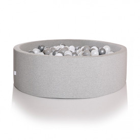 Round Ball Pit 100 x 30 cm - Light Grey
