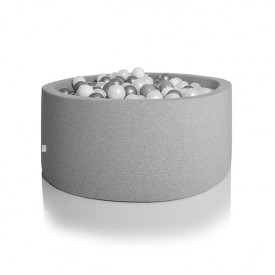 Round Ball Pit 90 x 40 cm - Light Grey