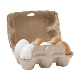 Pack of 6 wooden Eggs