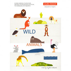 Wild animals - Cadboard Figurines