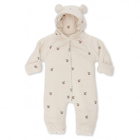 Onesie w/ Hood - Cherry/Blush