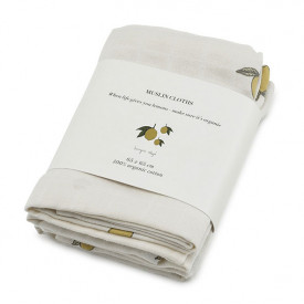 3 pack Muslin Cloth - Lemon