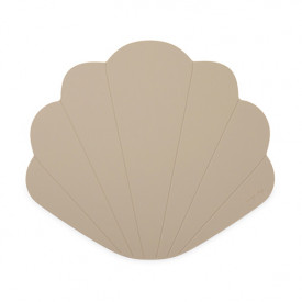 Silicone Placemat Clam - Warm Grey