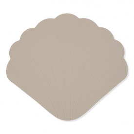 Silicone Bath Mat Clam - Warm Grey