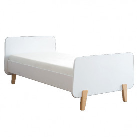 Bed MM 90 x 190 - Wood Legs - Color to choose