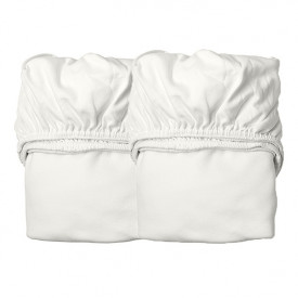 Set of 2 fitted sheets 60 x 120 - Snow