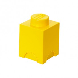 Lego Storage Box - 1 Stud - Yellow