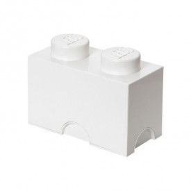 Lego Storage Box - 2 Studs - White