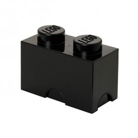 Lego Storage Box - 2 Studs - Black
