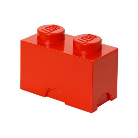 Lego Storage Box - 2 Studs - Red