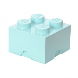 Lego Storage Box - 4 Studs - Sky Blue