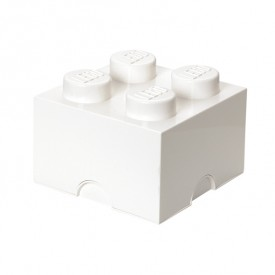 Lego Storage Box - 4 Studs - White