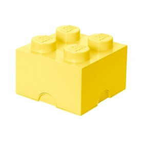 Lego Storage Box - 4 Studs - Cool Yellow