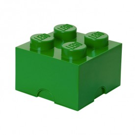 Lego Storage Box - 4 Studs - Dark Green