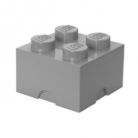 Lego Storage Box - 4 Studs - Grey