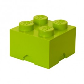 Lego Storage Box - 4 Studs - Lime Green