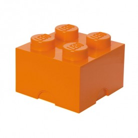 Lego Storage Box - 4 Studs - Orange