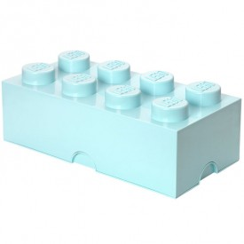 Lego Storage Box - 8 Studs - Sky Blue