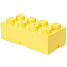 Lego Storage Box - 8 Studs - Cool Yellow