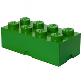 Lego Storage Box - 8 Studs - Dark Green