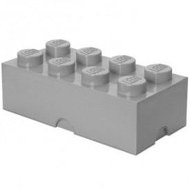 Lego Storage Box - 8 Studs - Grey