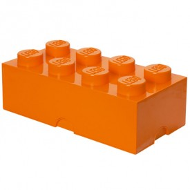 Lego Storage Box - 8 Studs - Orange