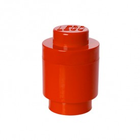 Round Lego Storage Box - Red