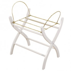 Wood Stand for Moses Basket - White Wood