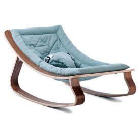 Baby Rocker Levo Walnut & Aruba Blue