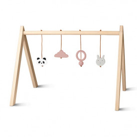Wooden Play Gym - Mix Rose