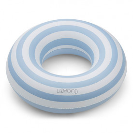 Baloo Swim Ring - Stripes Blue/Creme