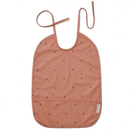 Lai Bib - Dot Tuscany Rose