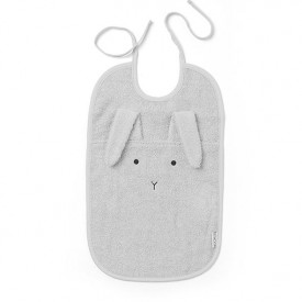 Terry Bib Rabbit - Grey