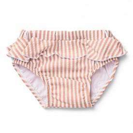 Elise Swim Pants - Stripes Coral/Creme